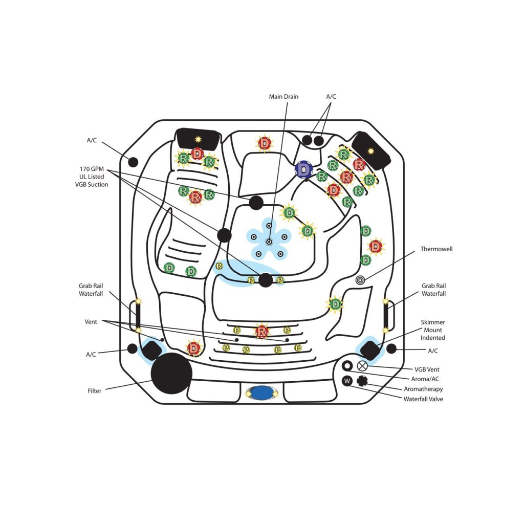 Person Portable V Hot Tub Spa Review Heaven In A Tub - Hot tub wiring diagram